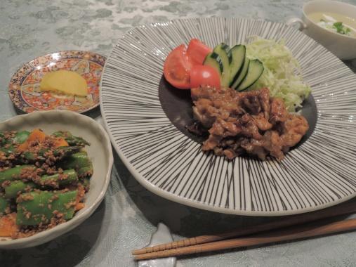 6月21日 塩麹の生姜焼き