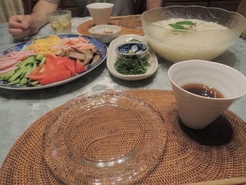 6月24日 素麺ディナー