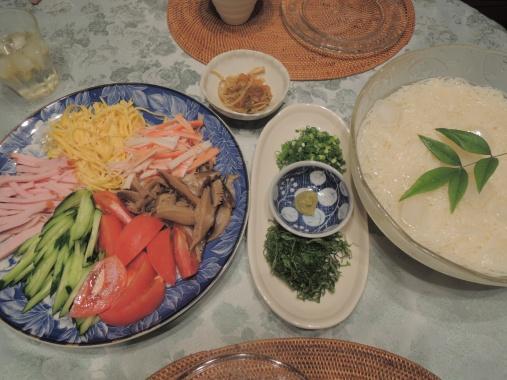 6月24日 素麺ディナー2