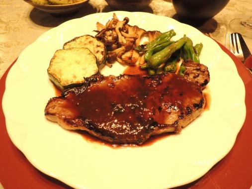 8月1日 塩麹のステーキ