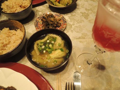 8月1日 焼きナスのお味噌汁