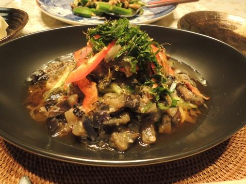 8月31日 素麺の茄子味噌