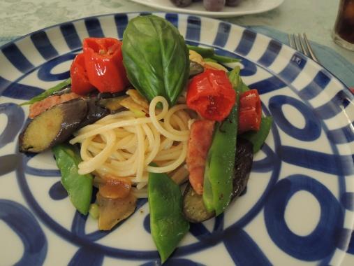 9月17日 野菜のペペロンチーノ