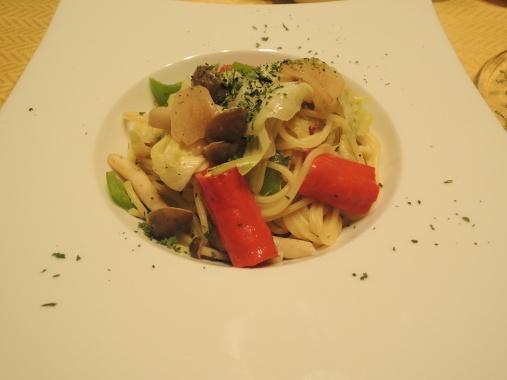 11月1日 アンチョビと野菜のスパゲッティ