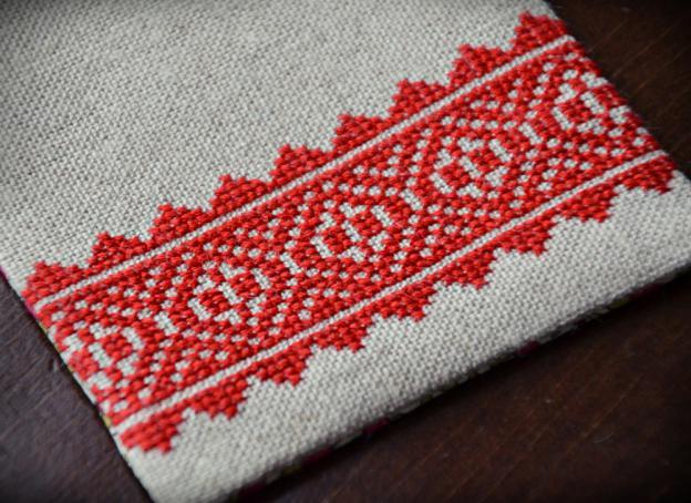 赤いステッチ2