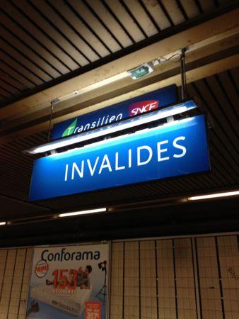 INVALIDES駅