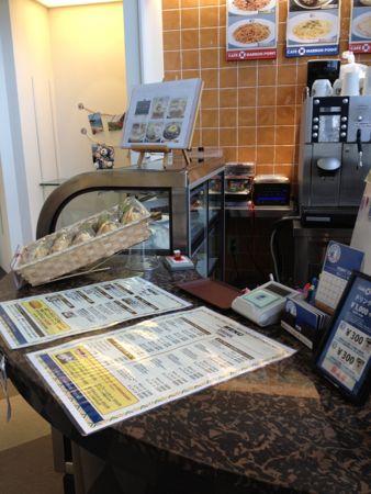 カフェハーバーポイントの店のカウンター