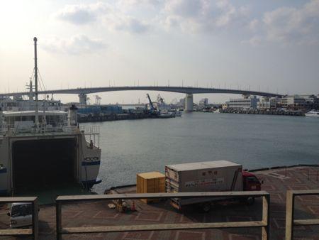 とまりんから見た港