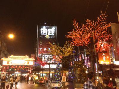 夜の饒河街観光夜市