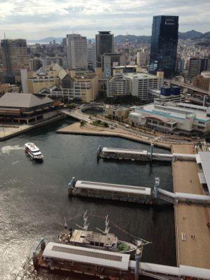 遊覧船が出る港