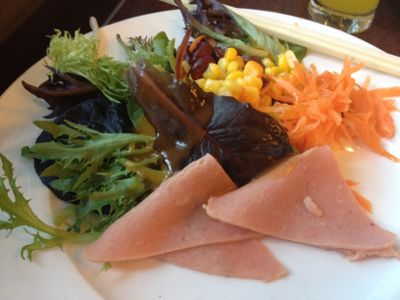 ハムと生野菜サラダ