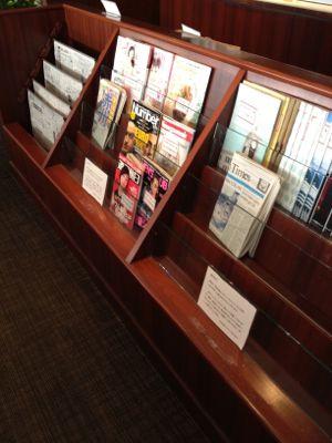 雑誌も各種取り揃えています