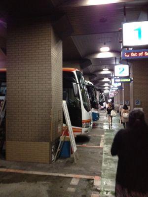 ずらっと並ぶ神姫バス
