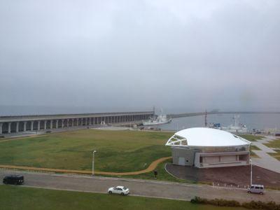 全日空ホテルから見る北防波堤ドーム