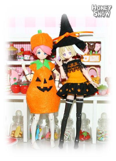 【ハロウィン衣装】 武装神姫、figma、リボルテック、オビツ11、ピコニーモ