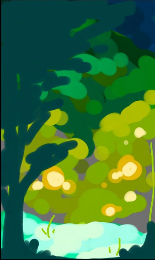 蛍の住む森