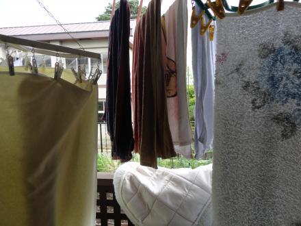 大量の洗濯物