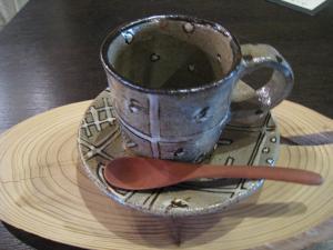 鉄絵コーヒーカップ