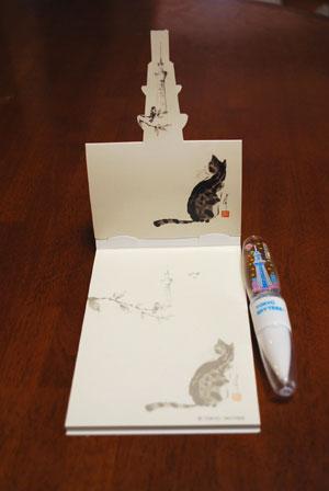 スカイツリー土産 メモ帳ボールペン