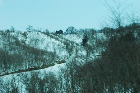 常磐道雪景色