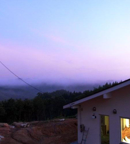 夕暮れの雲海
