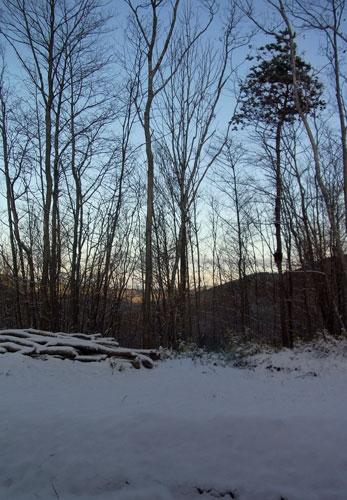 3日の朝7時また雪