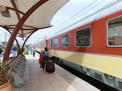 マラケシュ→カサブランカ列車1