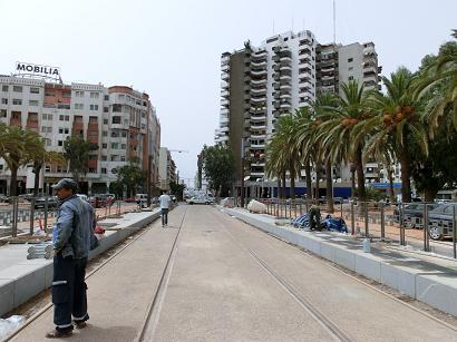カサブランカ駅からホテルへ1