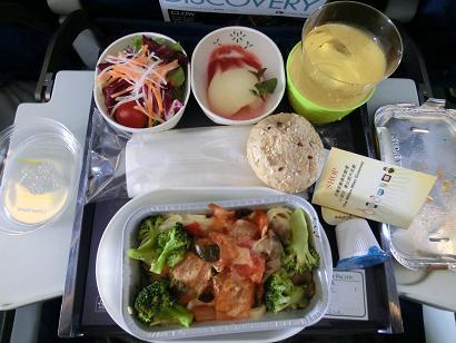 キャセイ機内食ベジタリアン2