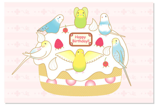 ポストカード/バースデーケーキ