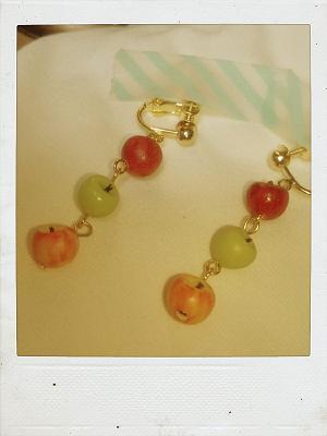 リンゴ×3イヤリング