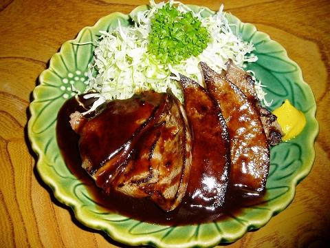 5三河屋(レバーステーキ)P6080006