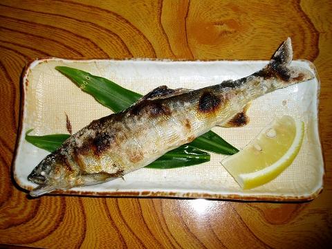 3三河屋(鮎塩焼き)P6080014