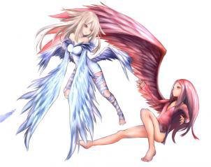 片翼の少女とハネムスメ