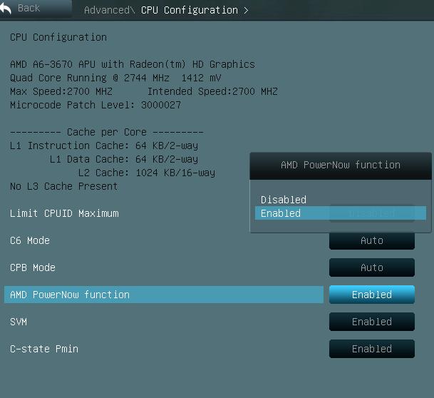 f1a55-m le cpu config default