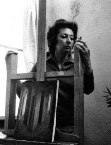 Remedios Varo at her easel, 1963 Kati Horna