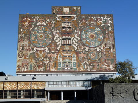 フアン・オゴルマン作 中央図書館壁画 1950~1952
