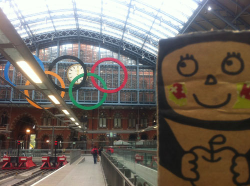 ringo at st. pancras train station