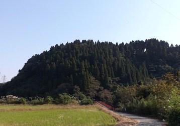 増山城遠望