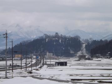 冬の大野城遠望