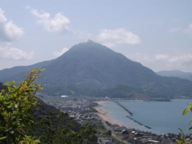 愛宕社からみた青葉山
