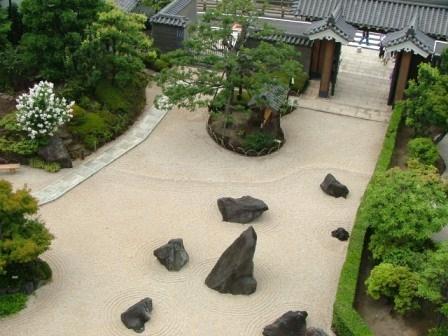 清州城大手門内側の庭園