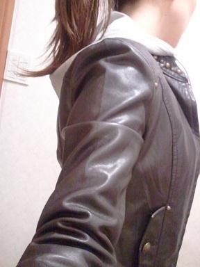 ロングスカート&レザージャケット3