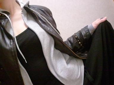 ロングスカート&レザージャケット2