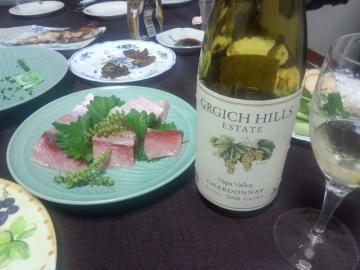 白ワイン&刺身