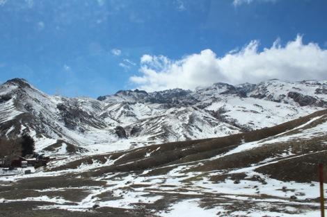 モロッコ雪山