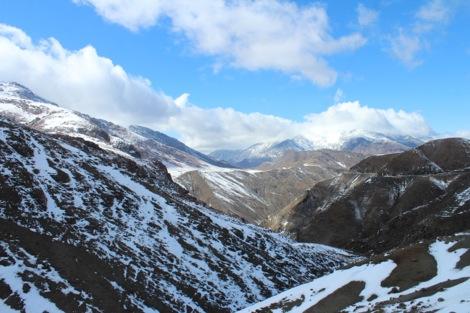 雪山がキレイ