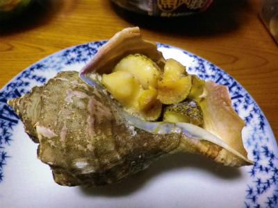 ツブ貝壺焼き