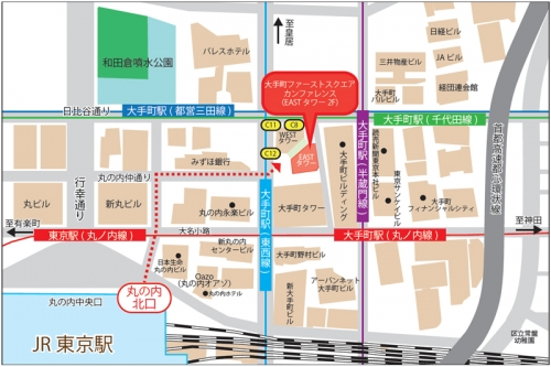 ファーストスクエア地図他の会社access_map