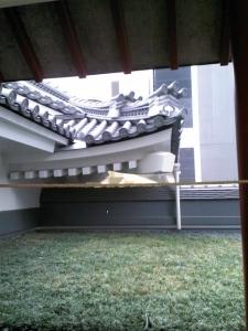 歌舞伎座屋根庭園から